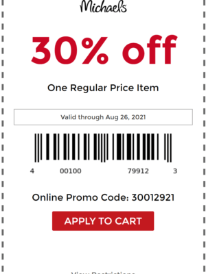 Michaels Coupon Example